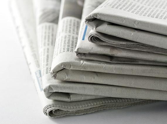 Бумага газетная в рулонах и листах