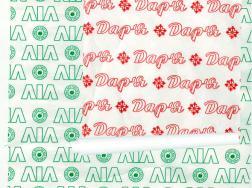 Бумага упаковочная с логотипом - вариант 2