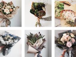 цветочная крафт-бумага